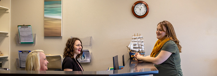Chiropractic Olympia WA Check In Desk